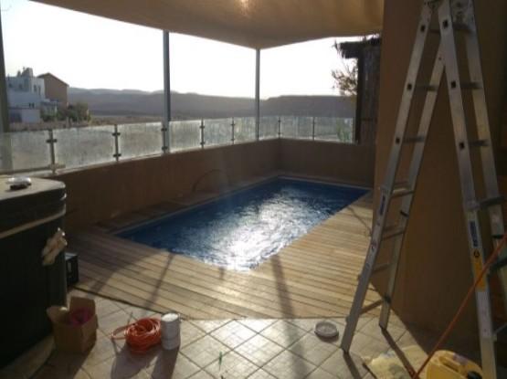 פרוייקט בניית בריכות שחיה במצפה רמון