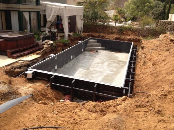 בניית בריכות שחייה פרויקט בקיסריה